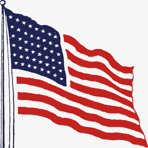 496x498 American Flag Vector Material Png, United States, United States