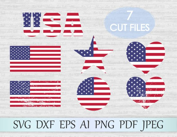 570x440 America Flag Svg File American Flag Vector Usa Flag Svg Usa Etsy