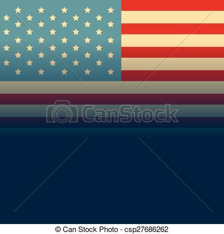 450x470 American Flag Vector. Vector American Flag Design Illustration.