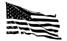 American Flag Vector Black And White