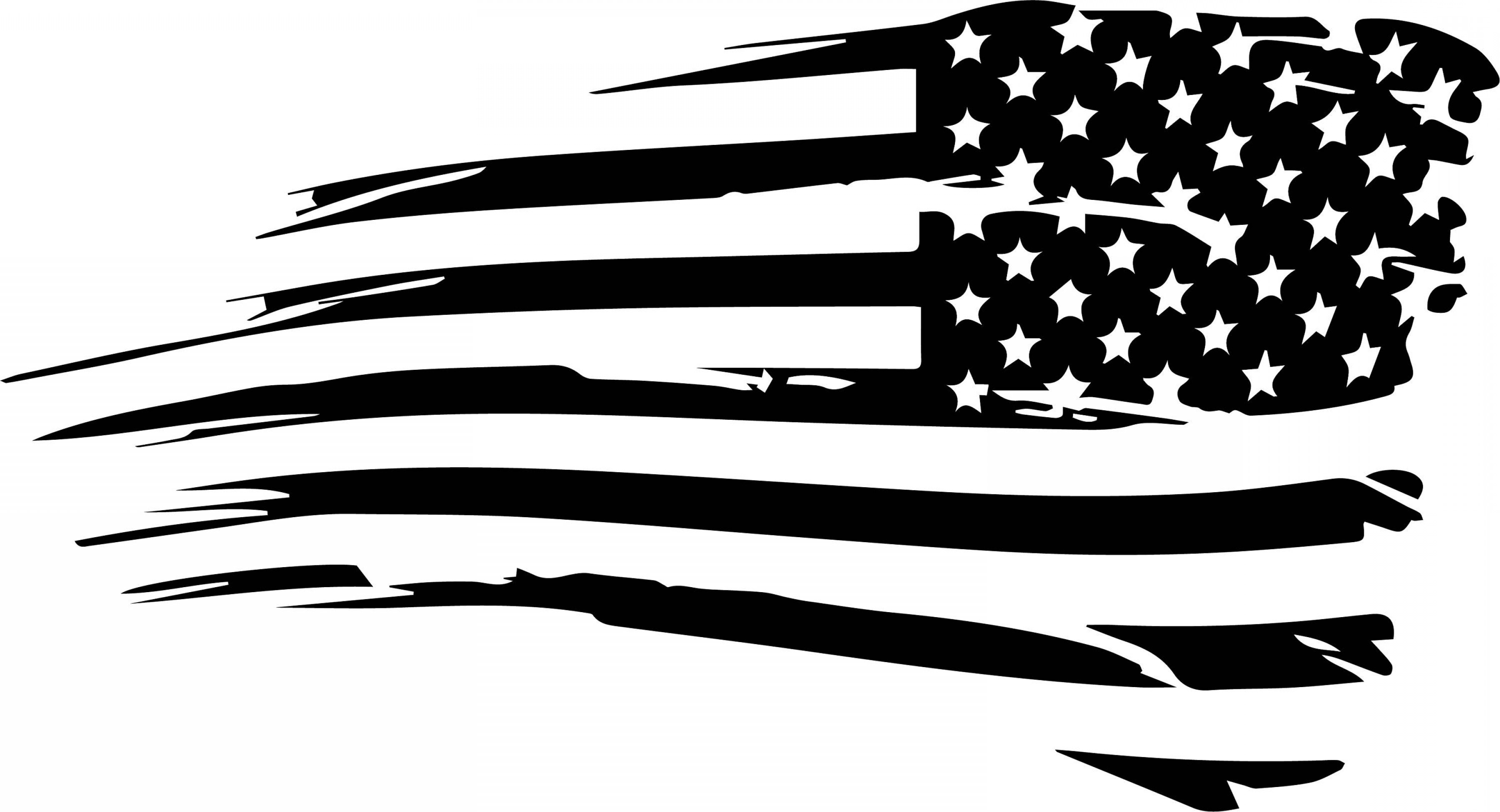 American Flag Vector Black And White At Getdrawings Free Download