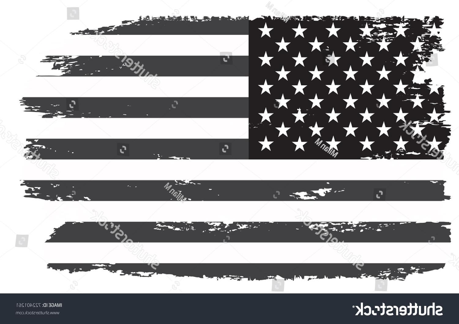 1500x1059 Best Stock Vector Grunge Usa Flag Vintage Black And White American Cdr