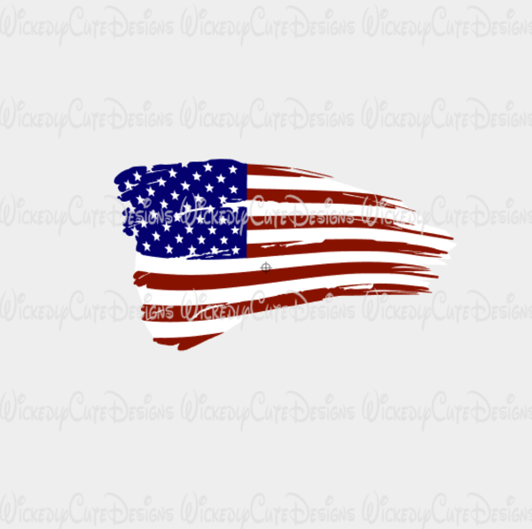 600x597 Distressed American Flag Svg Dxf Eps Png Digital File Free