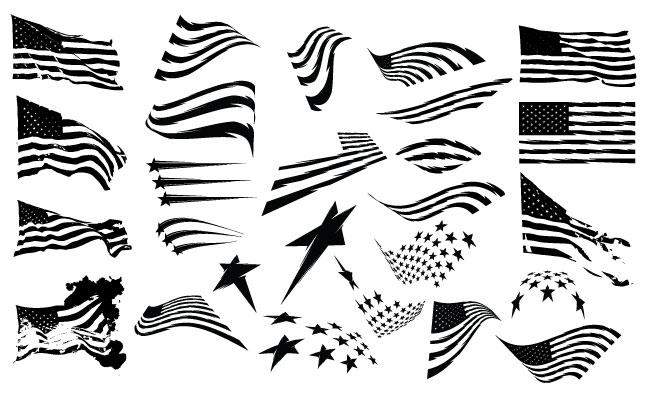 645x395 Drawn American Flag Vector 18