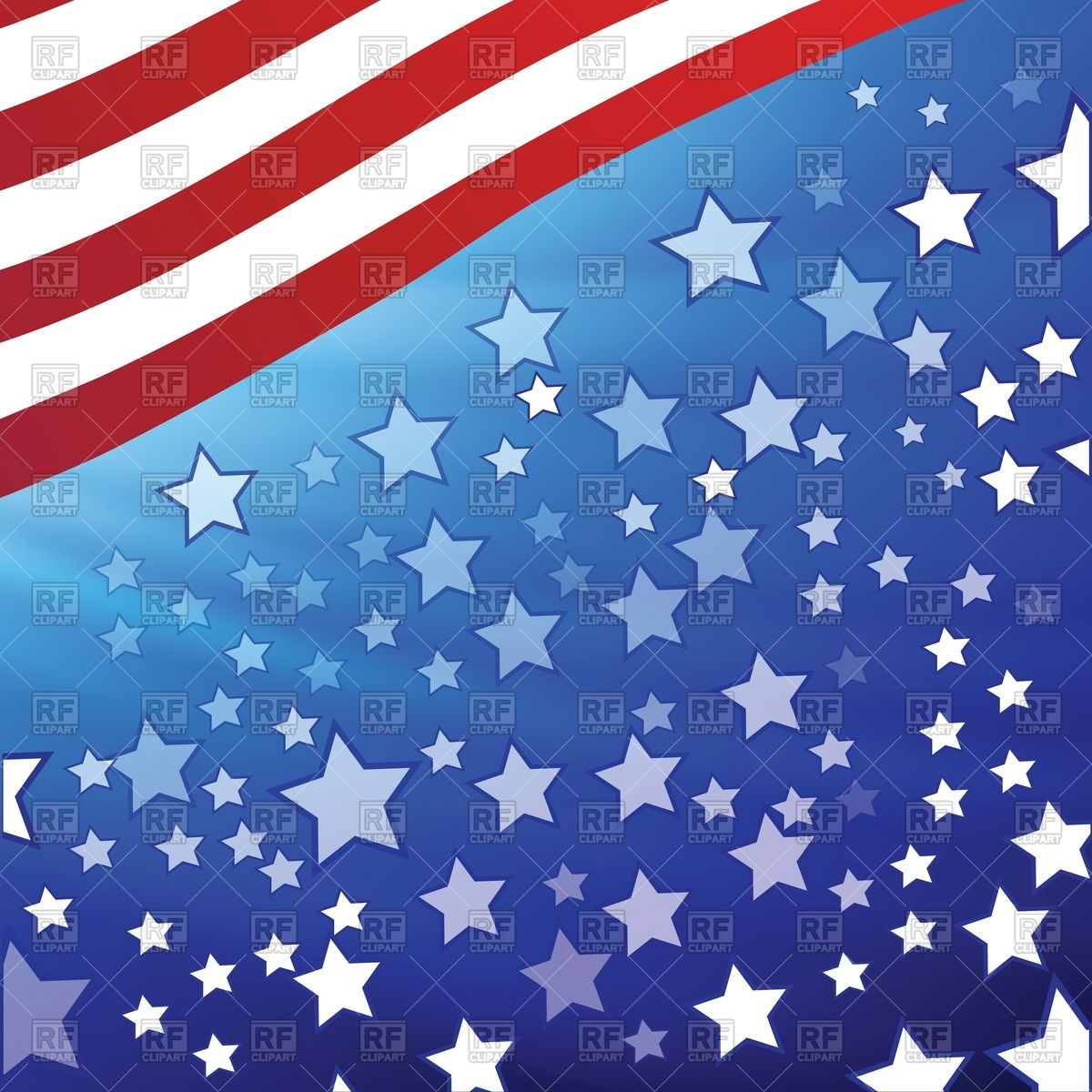 1200x1200 Abstract Background With Elements Of Usa Flag Vector Image