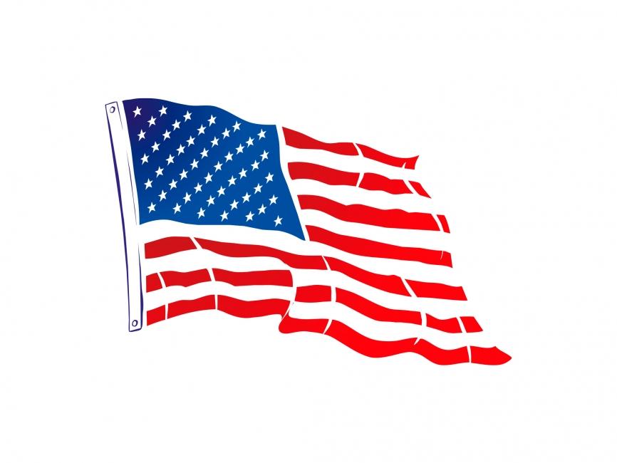 866x650 Usa Flag Vector File