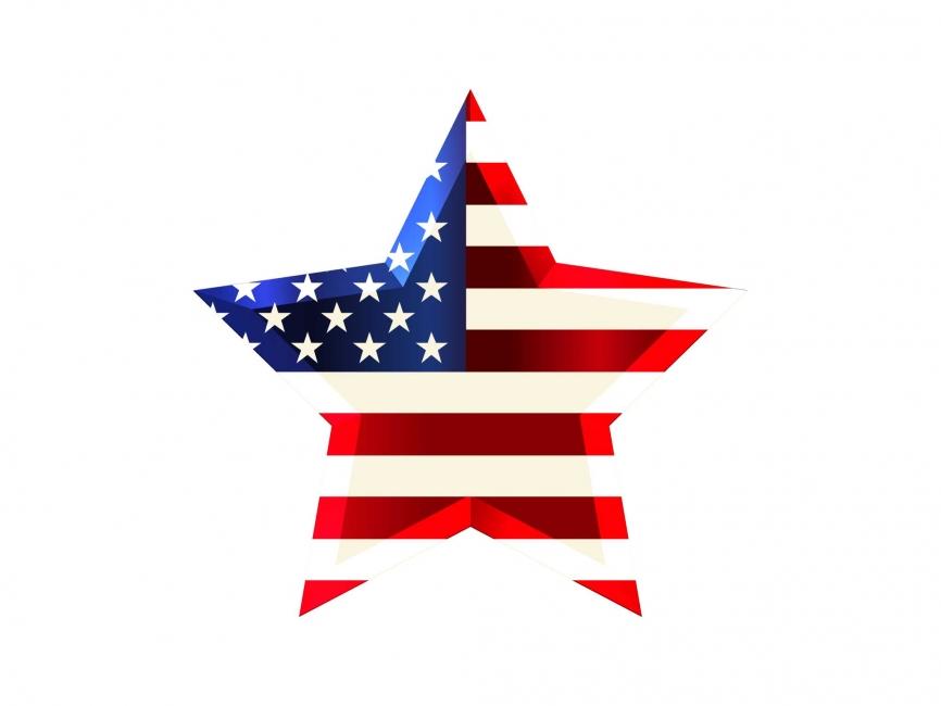 866x650 Usa Star Flag Vector File