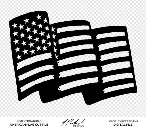 570x502 American Flag Digital Cut Files