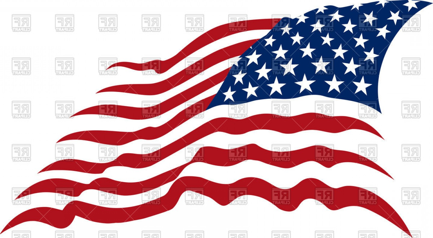 1440x792 Waving American Stars And Stripes Usa Flag Vector Clipart
