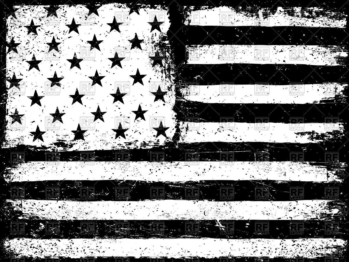 1200x900 American Flag Clip Art Black And White Stars And Stripes Usa Flag