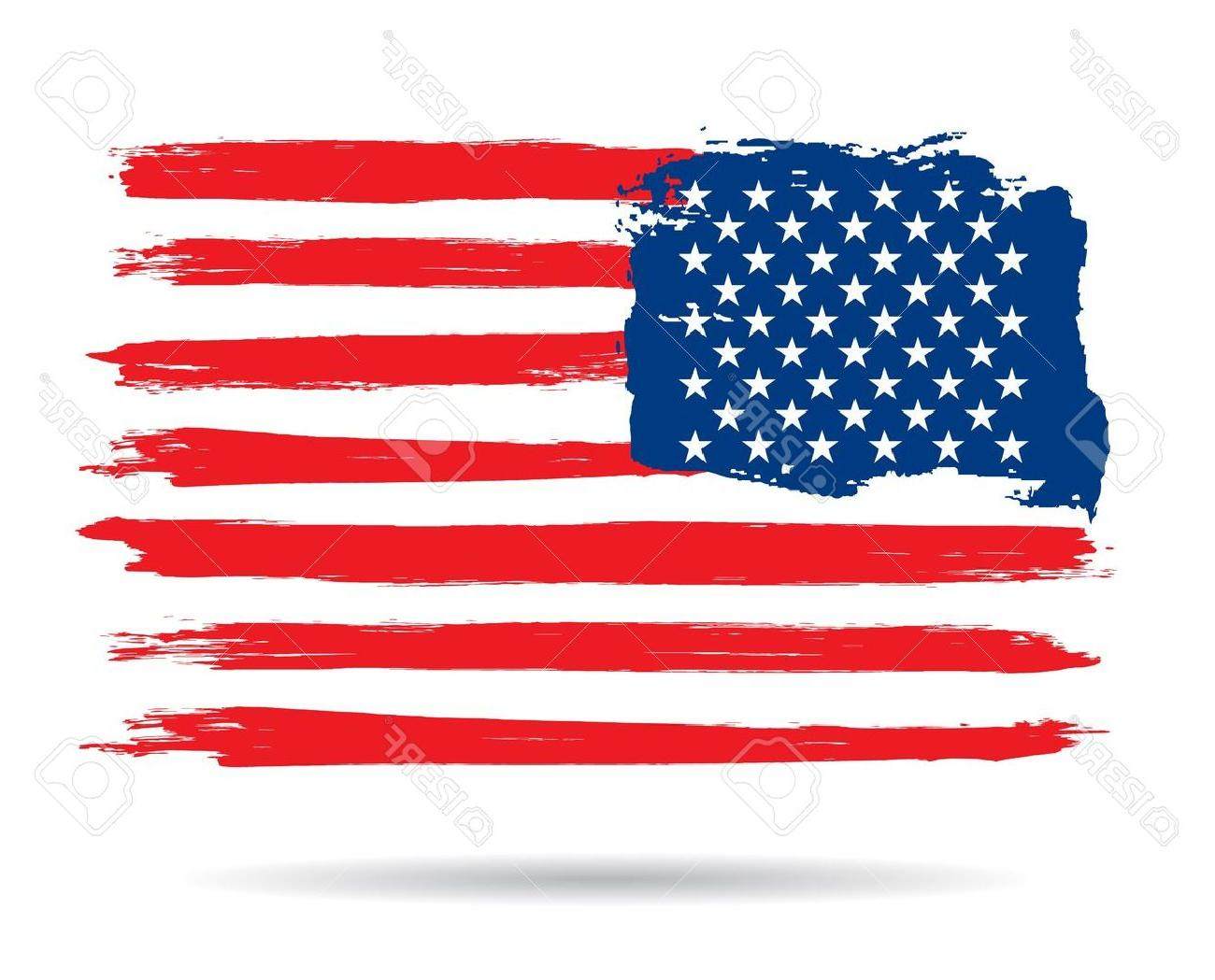 1300x1049 Best Hd Us Flag In Distress Vector File Free Free Vector Art