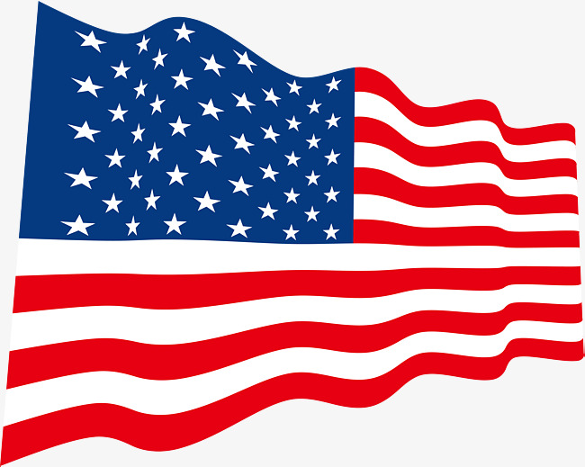 650x519 American Flag Design, Flag Vector, Exquisite Flag, Creative Design