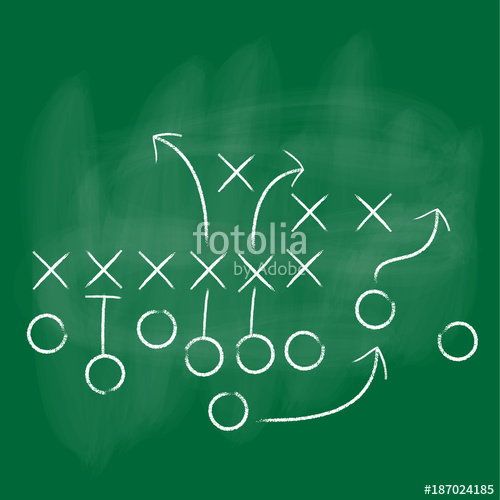 500x500 Vector Football Play With Green Background. Football America. Nfl