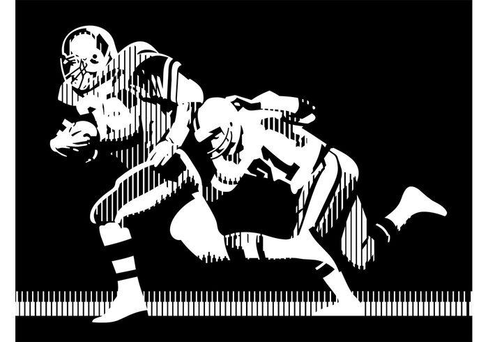 700x490 American Football Vector Graphics