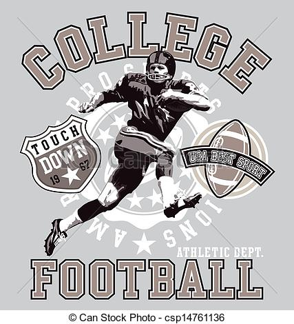 427x470 American College Football. Football Sport Vector For T Shirt