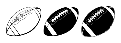 500x179 Black With White American Football Vector Free Download