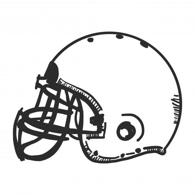 626x626 Doodle American Football Helmet Vector Free Download