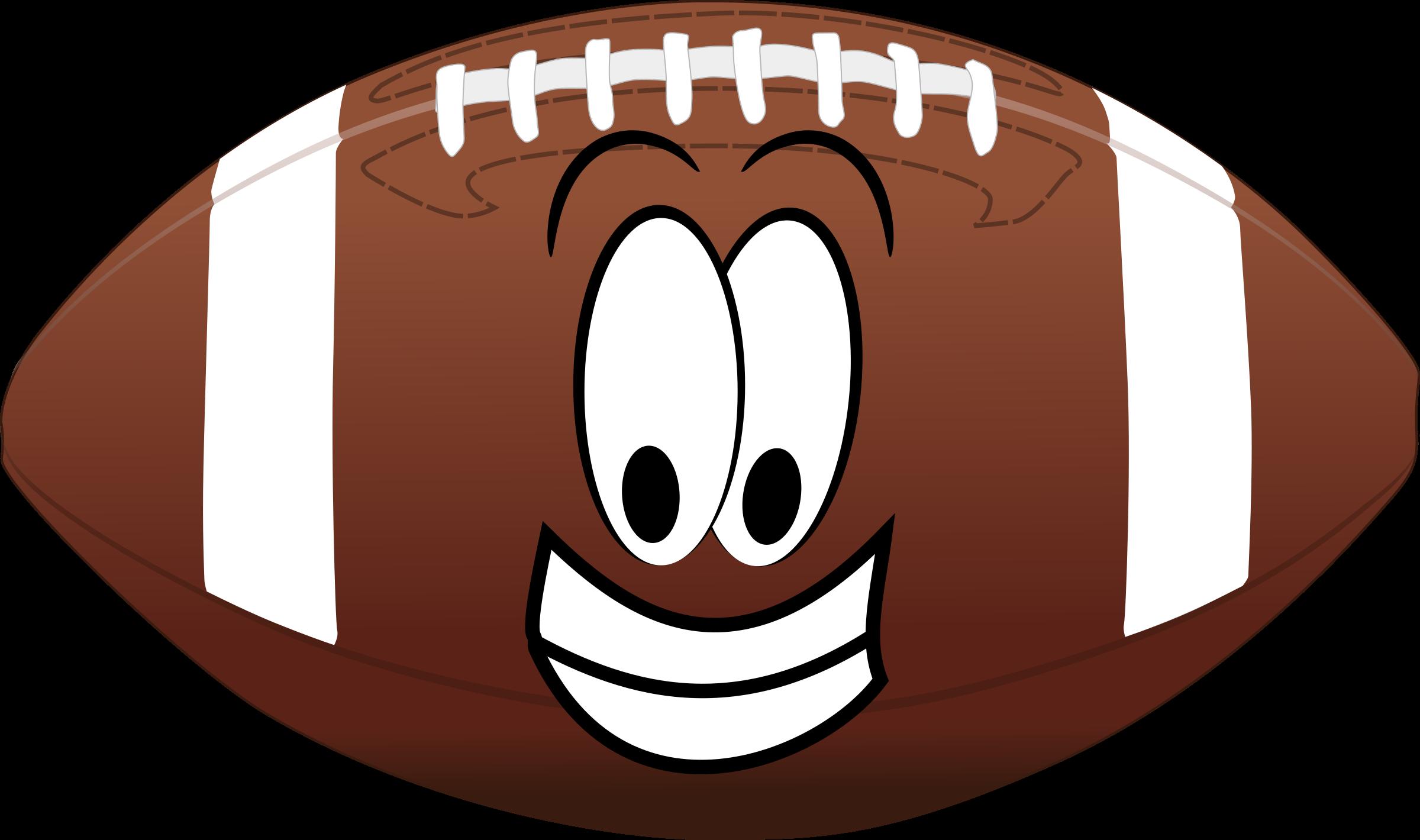 2400x1420 Happy Football Vector Clipart Image