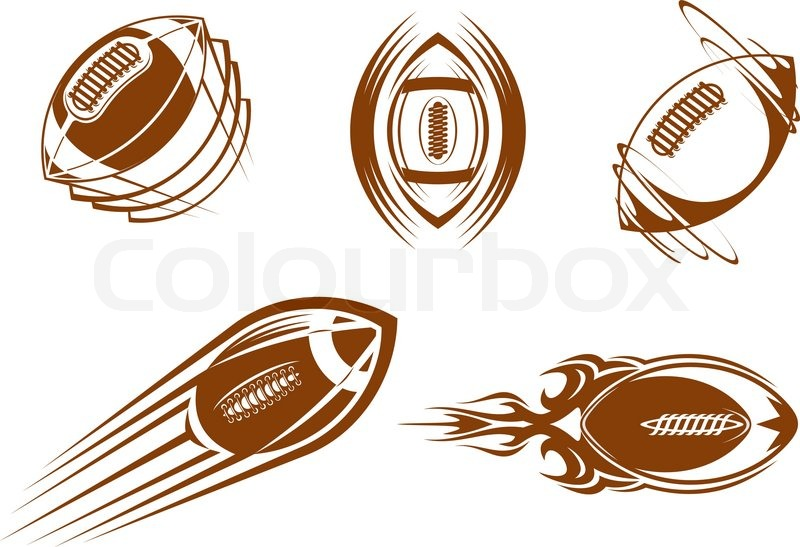 800x547 Rugby And American Football Symbols For Mascots Or Sports Design