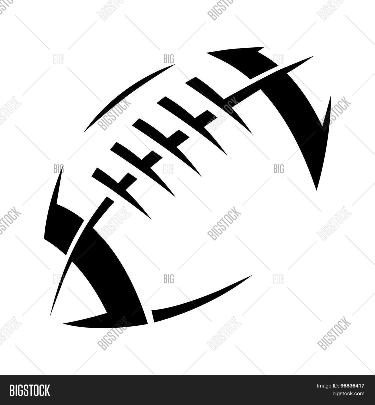 1500x1620 American Football Lace Vector