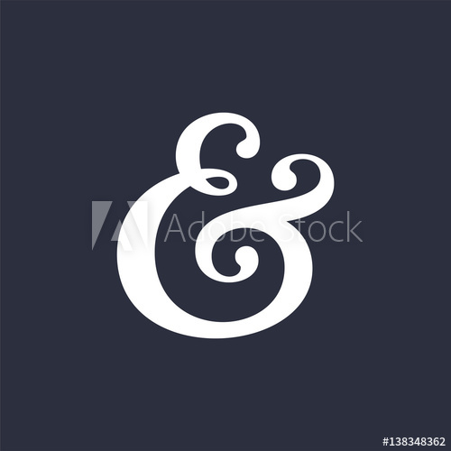 500x500 Ampersand Vector Illustration