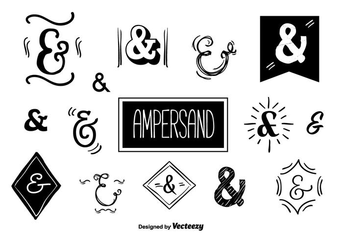 700x490 Ampersands Vector Set