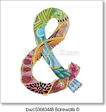 362x382 Art Print Of Hand Drawn Zentangle Ampersand. Vector Decorative