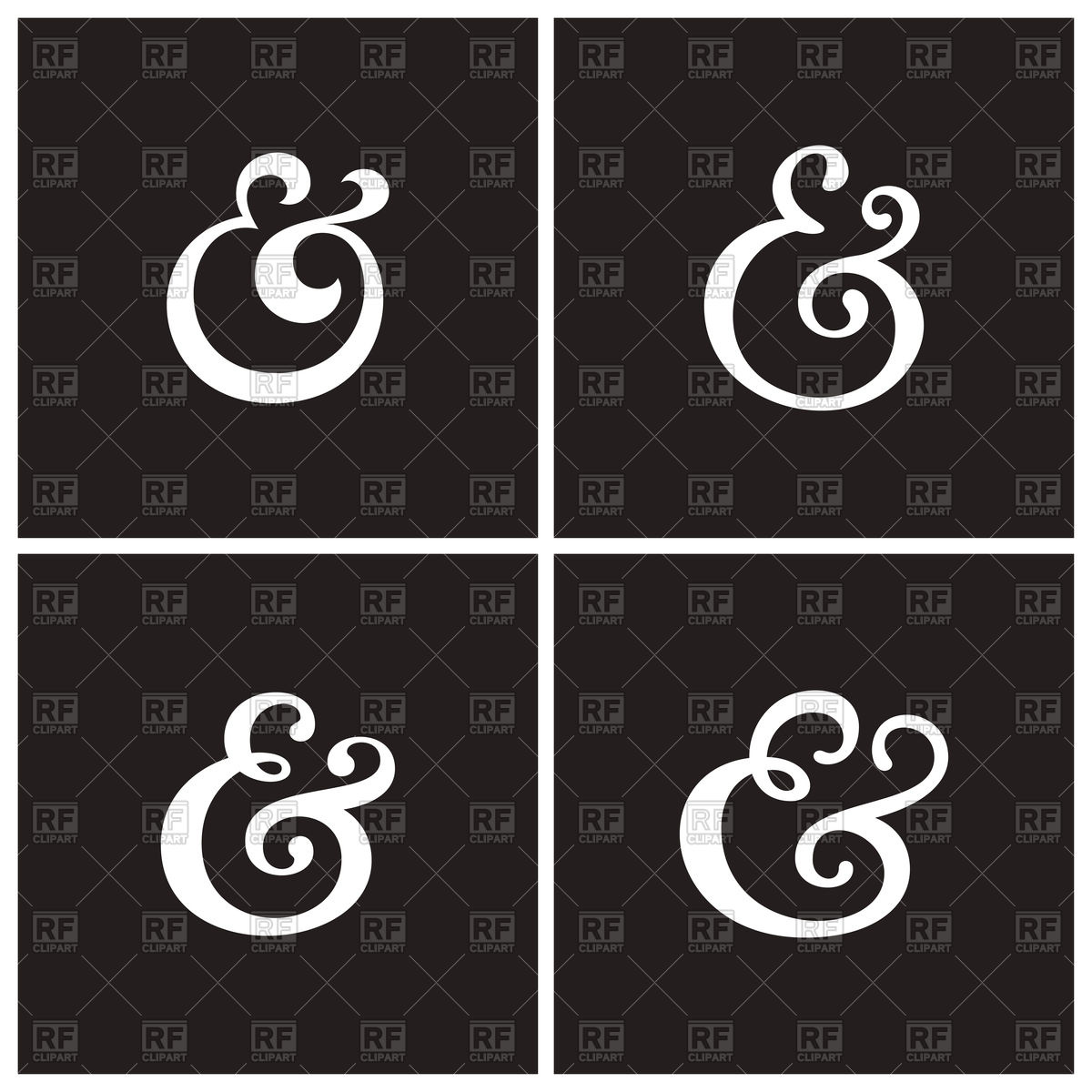 1200x1200 Collection Of Elegant Ampersand Vector Image Vector Artwork Of