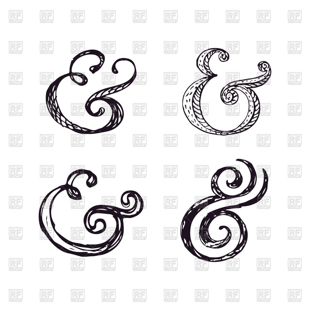1200x1200 Hand Drawn Sketchy Ampersand Vector Image Vector Artwork Of