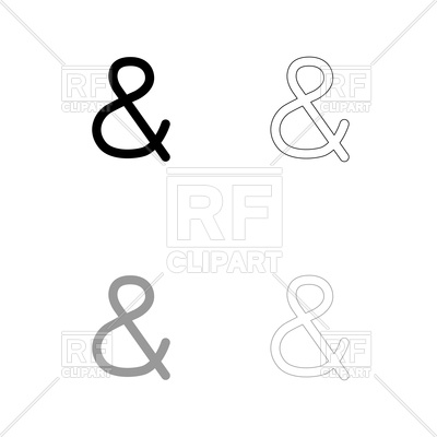 400x400 Icon And Sign Ampersand Vector Image Vector Artwork Of Signs