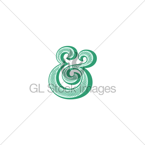 500x500 Ampersand Vector Illustration Gl Stock Images