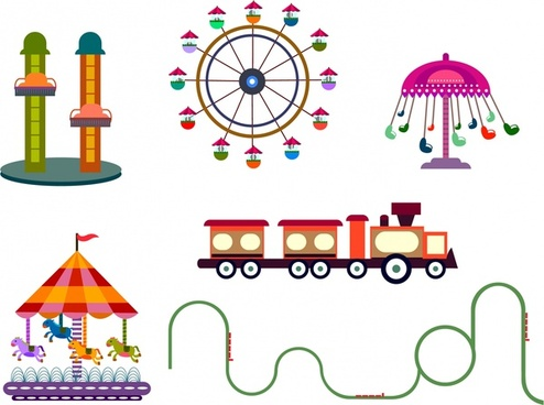 494x368 Amusement Parks Free Vector Download (545 Free Vector) For