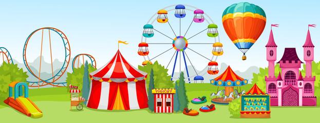 623x240 Carousel Amusement Park Vector Photos, Royalty Free Images