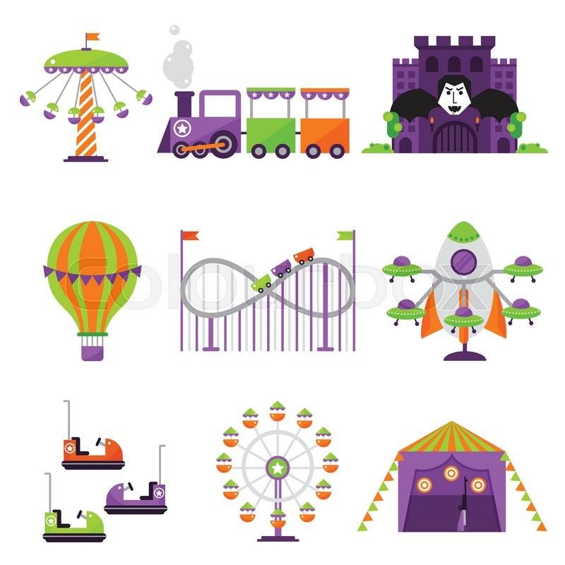 800x800 Slides And Swings Amusement Park, Ferris Wheel Attraction Park