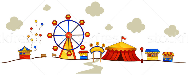 800x319 Theme Park Vector Illustration Lenm ( 361621) Stockfresh