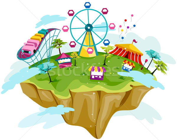 600x474 Theme Park Vector Illustration Lenm ( 414750) Stockfresh