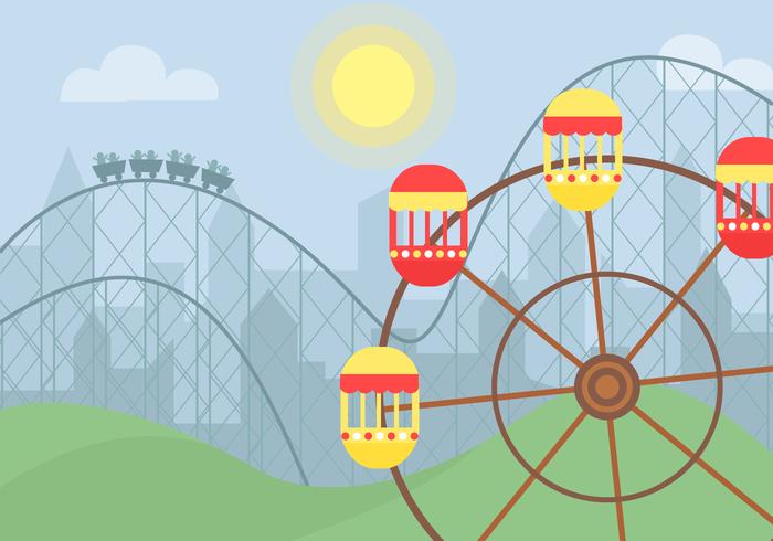 700x490 Amusement Park Ride Vector