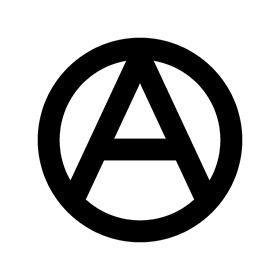 280x280 Anarchy Symbol Logo Vector Free Download