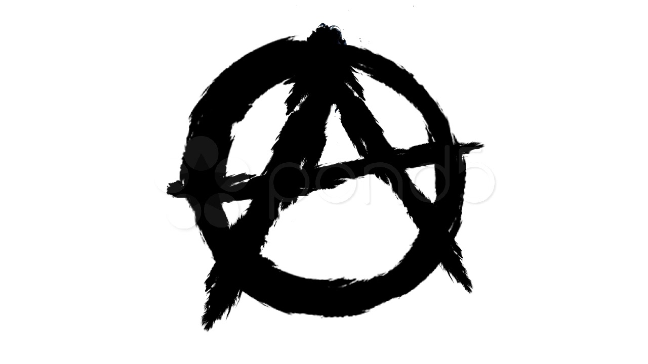 1280x720 Symbol Of The Anarchy On The White Background. ~ Footage
