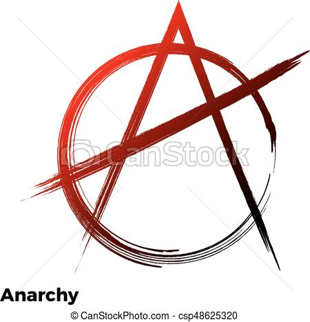 450x467 Anarchy Grunge Symbol Vector A Letter Icon.