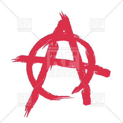400x400 Anarchy Sign Isolated Vector Image Vector Artwork Of Signs