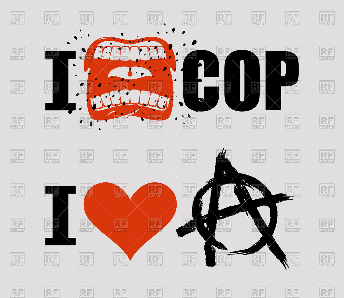 1200x1039 I Hate Cop And I Love Anarchy Vector Image Vector Artwork Of