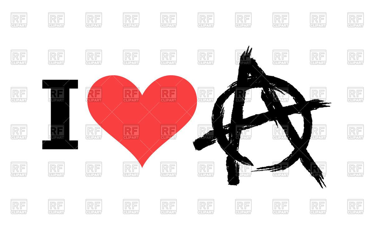 1200x752 I Love Anarchy Vector Image Vector Artwork Of Conceptual