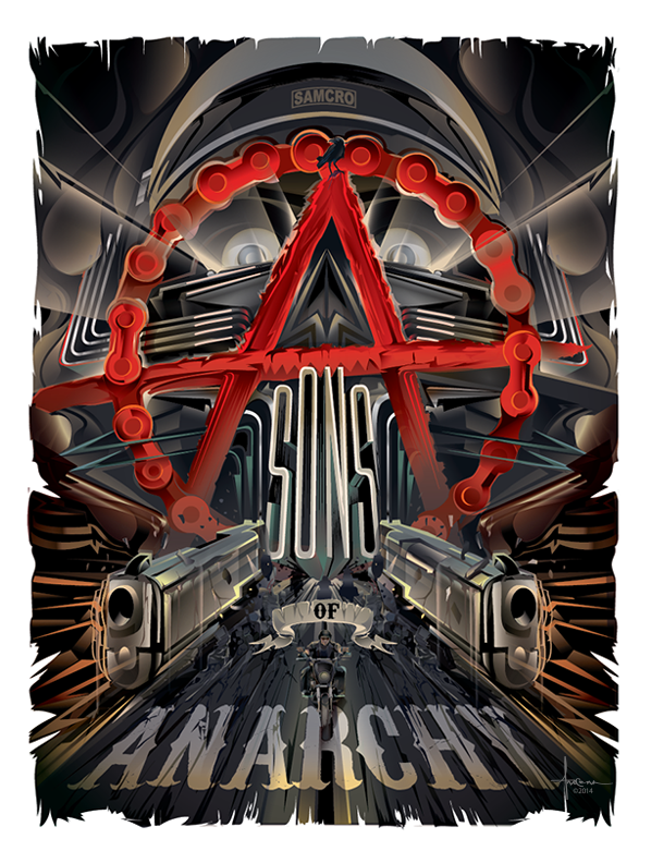 598x792 Sons Of Anarchy Vector Tribute On Behance
