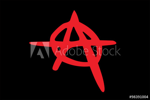 500x334 Vector Of Anarchy Sign.