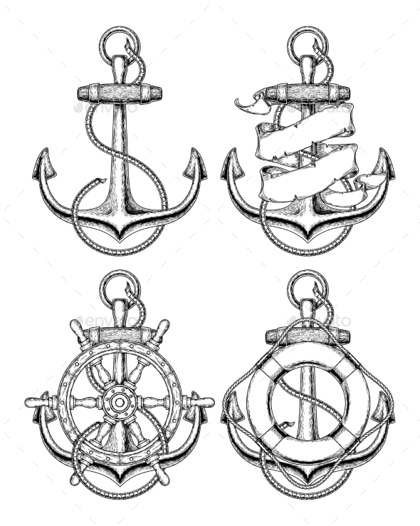 590x738 Nautical Anchor By Vectorpocket Graphicriver
