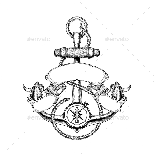 590x590 Vector Illustration Nautical Anchor By Vectorpocket Graphicriver