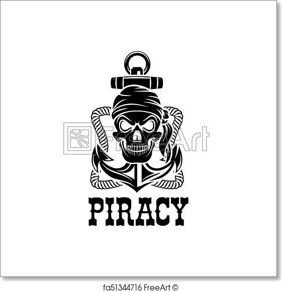 561x581 Free Art Print Of Jolly Roger Pirate Skull Piracy Anchor Vector