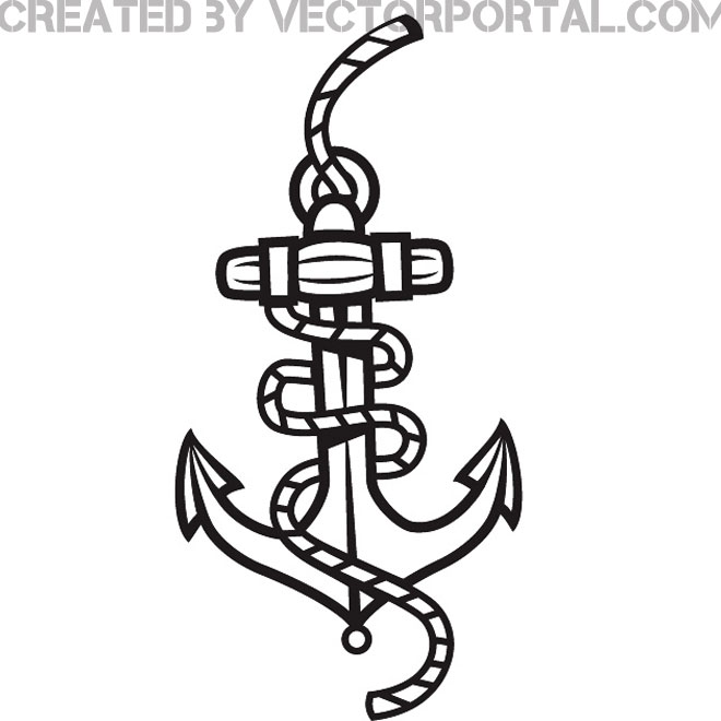 660x660 Anchor And Rope Graphics Free Vector 123freevectors
