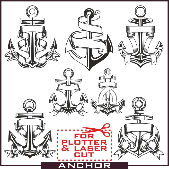 695x695 Anchor Vector Free Download Collection Of Beautiful Anchors In
